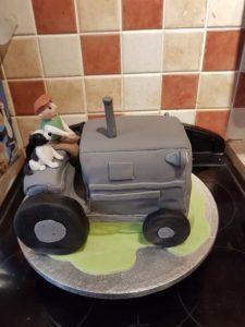 Tractor, Farmer & Dog Cake