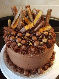 Crunchie Choc overload cake